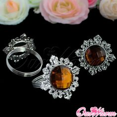 halloween napkin rings free shipping 12 pieces chocolate diamond gem napkin ring serviette
