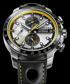 Chopard Grand Prix de Monaco Historique Chrono Watch In Yellow & Black For 2014