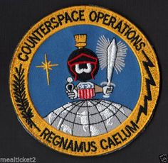 ORIGINAL COUNTERSPACE OPERATIONS - MARVIN THE MARTIAN - USAF - VELCRO - PATCH