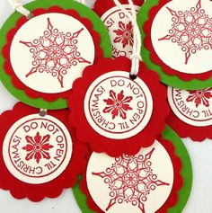 Hand Stamped Christmas Tags  Do Not Open til Christmas by AcarrdianCards, $5.75