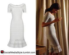 Buy Ashley Judd's Cutout Trim Bandage Dress, here!