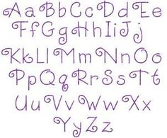 simple hand embroidery alphabet - Google Search