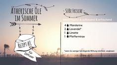 Ätherische Öle im Sommer - erfrischend, besänftigend - #1 Doterra, Movie Posters, Movies, Peppermint, Summer, Recipe, 2016 Movies, Film Poster, Films