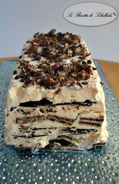 Semifreddo with chocolate wafers and No Cook Desserts, Italian Desserts, Frozen Desserts, Sweet Recipes, Cake Recipes, Dessert Recipes, Cooking Cake, Sweet Cakes, Ice Cream Recipes