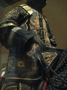 Ceremonial armors for a man and  horse Steel, copper, gold, silk, leather, hair Chinese, Qing dynasty 18th century.