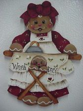 "HP~~Gingerbread ""Wash Day"" Laundry Fridge Magnet"