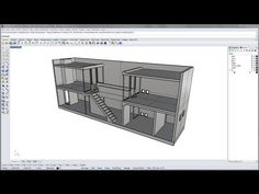 Azuma House Part 3 of model Casa Azuma, Row House Design, Rhino 3d, Tadao Ando, Rhinoceros, 1 Year, Mario, Tutorials, Models