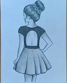 Ansho art _ _o7_ _   1000 Disney Drawings Sketches, Girl Drawing Sketches, Girly Drawings, Girl Sketch, Art Drawings Sketches Simple, Cartoon Drawings, Pencil Sketches Of Girls, Drawing Ideas, Pencil Drawing Images