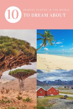 10 remote places in the world to dream about (or to visit someday) Vacation Places, Tropical Paradise, Far Away, Fun Facts, Remote, Ocean, Explore, Adventure, World