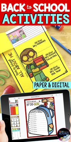 This back to school worksheet is one of many back to school activities included in this fun pack of back to school ideas :) Perfect back to school craftivity to get to know your students! Also makes for a great back to school bulletin board display for your classroom! Paper and digital Google Slides back to school activities for distance learning or remote learning. Back to School 1st grade, 2nd grade, 3rd grade, 4th grade, 5th grade. Icebreakers for the first day of school or first week.