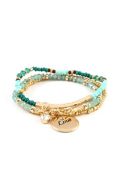 3 Piece Love Bracelet Set on Emma Stine Limited