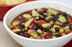 avacado, black bean, and cilantro lime dip!