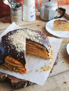 Cookie Desserts, Dessert Recipes, Chimichanga, Hungarian Recipes, Winter Food, Cakes And More, Cake Cookies, Fudge, Pancakes