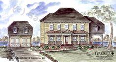 Garrell Associates, Inc.Prado House Plan # 05162, Front Elevation, Coastal Style House Plans, Colonial Style House Plans, Design by Michael W. Garrell