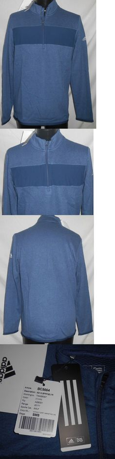 Other Mens Golf Clothing 181141: New Adidas Golf Warm Mens 1 4 Zip Long Sleeve Pullover Stretch Slate Blue Sz M -> BUY IT NOW ONLY: $36.99 on eBay!