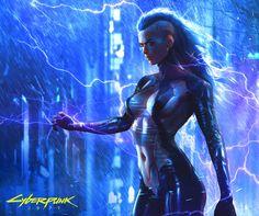 """CYBERPUNK 2077 Fan Art - by Soufiane Idrassi """"Cyberpunk Fanart made reusing an old character I made"""" Cyberpunk 2077, Arte Cyberpunk, Cyberpunk Aesthetic, Cyberpunk Girl, Chica Fantasy, Sci Fi Fantasy, Fantasy Girl, Arte Robot, Ex Machina"""