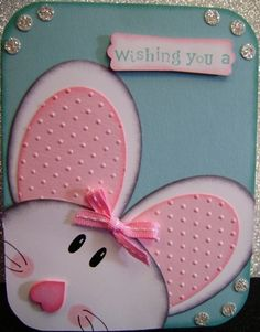 Stampin'Up Hand Made Greeting Card Easter Bunny Made with Oval Dies Cute Fun | eBay