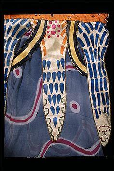 Aleksandr GOLOVIN, Léon BAKST Costume for one of Köstchei's women  c.1910 silk, paint, cotton, imitation jewels, lamé, metallic braid, gelatine sequins outer sleeve 55.0 (h) cm Purchased 1973 National Gallery of Australia, Canberra