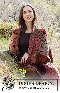 Sun Baked Tiles / DROPS 214-10 - Free crochet patterns by DROPS Design