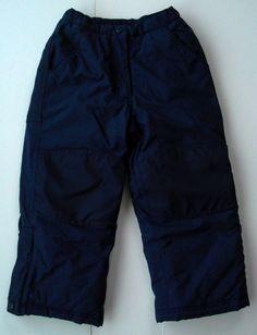 L L Bean Snow Pants 4 Navy Blue Lined Reinforced Knees Seat Gaiters Boys Girls #LLBean #SkiPants