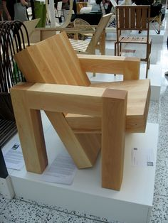 Wood armchair
