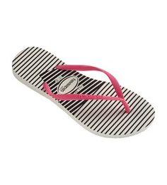 636f63648567aa Havaianas - Women s Slim Graphic Flip Flops - White Pink. Flopstore  Australia sells the best ...
