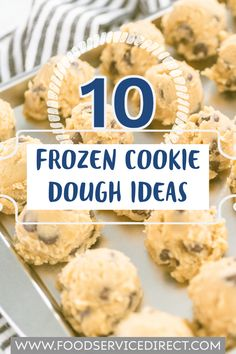 Freezable Cookie Dough, Cookie Dough To Eat, Freezable Meals, Frozen Cookie Dough, Freezer Meals, Cooking On A Budget, Brownie Cookies, Desert Recipes, Baking Ideas