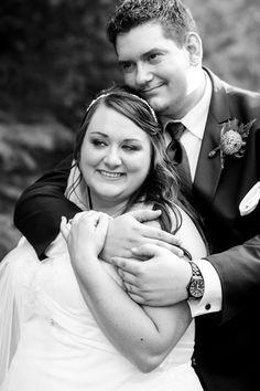 Plus size wedding photography-Bride & Groom