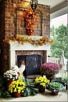 a gate on the mantle like this idea