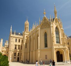 Lednice neogothic castle (Lednice-Valtice area), South Moravia, Czechia #chateau #castle #neogothic #Czechia Historical Monuments, Czech Republic, Prague, Barcelona Cathedral, European Countries, Cherries, Building, Places, Travel