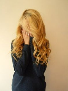 Beautiful curly blonde hair