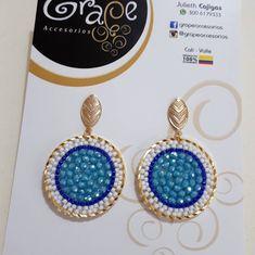 Beaded Earrings, Drop Earrings, Imitation Jewelry, Peyote Stitch, Diana, 3 D, Jewerly, Chic, Pendants
