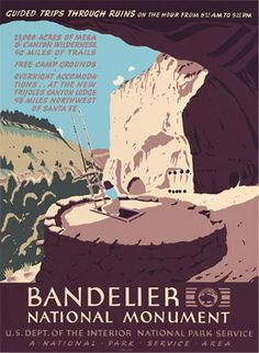 Bandelier National Monument - Limited Edition - Historic Design | Ranger Doug's Enterprises