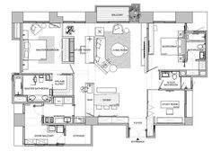 Home Design Floor Plans, Plan Design, House Floor Plans, The Plan, How To Plan, Asian Interior Design, Interior Design Layout, Interior Modern, Interior Styling
