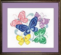 Butterfly Cross Stitch, Rooster, Butterflies, Wings, Diagram, Chart, Map, Spring, Summer