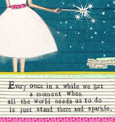 Sparkle. By Curly Girl Design #alikatcards