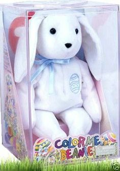 e0cbcdc96c7 NEW COLLECTIBLE TY COLOR ME BEANIE BUNNY WITH PLASTIC CASE