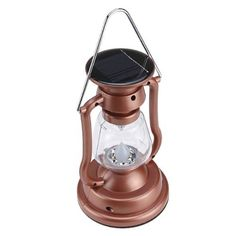 Hand Crank and Solar Powered Travel Camping Lantern Light with 7 LEDs Can Switch to 1 LED/ 4 LEDs by BrainyTrade. $12.59