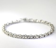 Diamond Accent X and O Sterling Silver Bracelet Hugs & Kisses