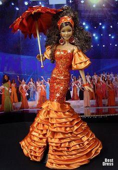 miss universe barbie dolls   Ninimomo's Barbie. The Caribbean. 2009/2010 Miss Anguilla