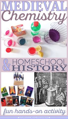 September-Camelot: Medieval Chemistry and Homeschool History. Alchemy was a 'science' back in Medieval times. Look at this fun hands-on activity over @ Tina's Dynamic Homeschool Plus Middle Ages History, Study History, History Education, Teaching History, History Books, History Quotes, History Classroom, College Teaching, Primary Teaching