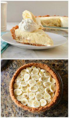 Banana Pudding Cheesecake - This no bake Banana Pudding Cheesecake from scratch is easy to make and sure to be a hit with banana cream pie and cheesecake lovers alike!. so creamy and delicious ! :)