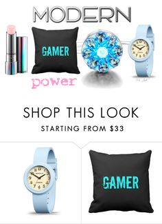 """Modern Gamer Girl Power"" by ms-jade-1 ❤ liked on Polyvore featuring Newgate, MAC Cosmetics, Retrò and modern"