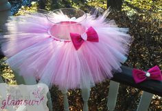 Valentines Day Tutu and Matching Hair Bow / Newborn - 6+ Sizes / Handmade in USA by abitofglamour