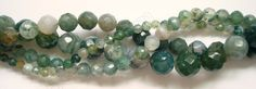 """Moss Agate - Faceted Round 16"""""""