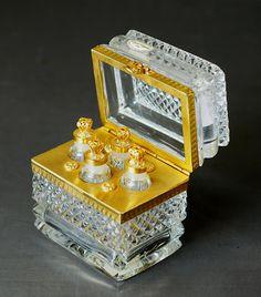 French Royal Crystal perfume casket.