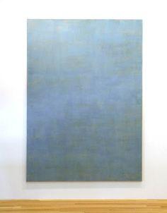John Zurier, Hellnar, 2012, distemper on linen, 108 x 75 inches, Studio and Garden