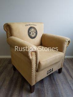 Harley chair is van classic canvas gemaakt. Welgevormde armleuningen met de uitstraling van een heerlijke comfortabele fauteuil waar je relaxed in kunt zitten. Waar iemand zich graag in nestelt en er niet meer uit komt. Staat op mooie strakke houten donkergekleurde poten. Deze kan goed in combinatie met de Harley bench. 90*80 cm hoogte 90 cm