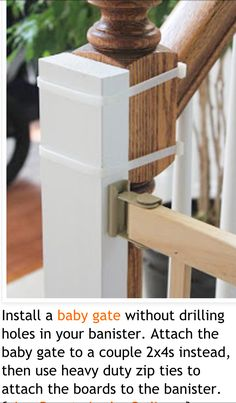 Baby gate for stairs idea Dog Gates For Stairs, Stair Gate, Diy Baby Gate, Baby Gates, Home Projects, Home Crafts, Kids Gate, Toddler Proofing, Pet Gate