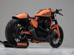 "Awesome custom bike Harley-Davidson Sportster ""Racing II"" by Kodlin Murdercycles. Harley Davidson Custom Bike, Harley Davidson Pictures, Harley Davidson Museum, Classic Harley Davidson, Harley Davidson News, Harley Davidson Sportster, Sportster Motorcycle, Motorcycle Gear, Sportster 48"